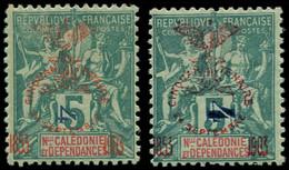 * NOUVELLE-CALEDONIE - Poste - 83b, Surcharge Type III, Signé Scheller: 4c. S. 5c. Vert - Unused Stamps
