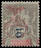 ** NOUVELLE-CALEDONIE - Poste - 85, Surcharge Du Cinquantenaire à Cheval: 10c. S. 15c. Gris (Maury) - Unused Stamps