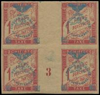 """** NOUVELLE-CALEDONIE - Taxe - 14, Bloc De 4 Millésime """"4"""": 1f. Rose S. Paille - Postage Due"""