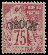 * OBOCK - Poste - 10, Signé Scheller: 75c. Rose - Unused Stamps
