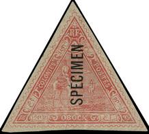 """(*) OBOCK - Poste - 46, Surchargé """"spécimen"""", Signé Scheller: Méharistes (Maury) - Unused Stamps"""