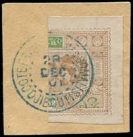 O OBOCK - Poste - 55a, Moitié De Timbre Sur Fragment - Used Stamps