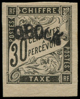 * OBOCK - Taxe - 3, Signé: 30c. Noir - Unused Stamps