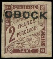 * OBOCK - Taxe - 17, Signé Scheller: 2f. Marron - Unused Stamps