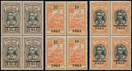 ** OCEANIE - Poste - 44/46, Blocs De 4, Certains Gomme Coloniale (Maury) - Unused Stamps