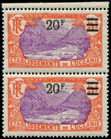 """** OCEANIE - Poste - 68/68a, Se Tenant, 1 Exemplaire Sans Point Après Le """"F"""": 20f. S. 5f. (Maury) - Unused Stamps"""