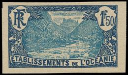 (*) OCEANIE - Poste - 75, Non Dentelé: 1f50 Bleu - Unused Stamps