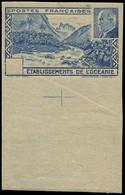 (*) OCEANIE - Poste - 139, Non Dentelé Sans La Valeur Dans Le Cartouche, Bdf Avec Croix De Repère (pli): Pétain - Unused Stamps