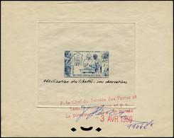 EPT OCEANIE - Poste - 201 épreuve D'atelier, Bon à Tirer En Bleu (1104), Datée Et Signée 03/04/1950, Unique - Unused Stamps