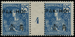 """** PAKHOI - Poste - 24, Paire Millésime """"4"""", Tirage 300 (* Sur Millésime): 25c. Bleu - Unused Stamps"""