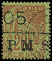 """O SAINT PIERRE & MIQUELON - Poste - 8, Surcharge à Cheval """"PMS"""": 05 S. 20c. - Used Stamps"""