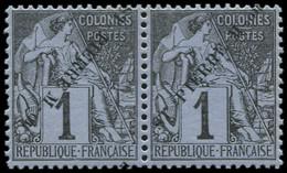 * SAINT PIERRE & MIQUELON - Poste - 18/18A, Se Tenant: 1c. Noir S. Azuré - Neufs
