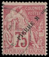 """O SAINT PIERRE & MIQUELON - Poste - 29a, Sans """"S"""" à """"ST"""", Signé Scheller: 75c. Rose - Neufs"""