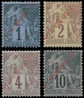 * SAINT PIERRE & MIQUELON - Poste - 31(A)/34(A), Surcharges Renversées, Signés Scheller - Neufs