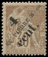 * SAINT PIERRE & MIQUELON - Poste - 43b, Surcharge Imprimée En Deux Fois: 4c. S. 30c. - Neufs