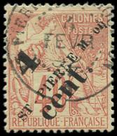 O SAINT PIERRE & MIQUELON - Poste - 44a, Surcharge Imprimée En Deux Fois: 4c. S. 40c. - Used Stamps