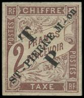 * SAINT PIERRE & MIQUELON - Poste - 57, Signé Brun: 2f. Marron - Neufs