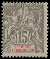 * SAINT PIERRE & MIQUELON - Poste - 74, Groupe Allégorique: 15c. Gris - Neufs