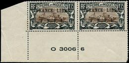 ** SAINT PIERRE & MIQUELON - Poste - 242, Paire, Cdf Avec Numéros: 1f75 Noir Et Brun France Libre - Neufs