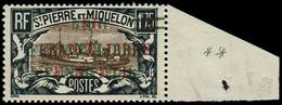 ** SAINT PIERRE & MIQUELON - Poste - 245, Triple Surcharge, 1 Rouge + 2 Vertes, Signé Calves: 1f75 Noir Et Brun (Maury) - Neufs
