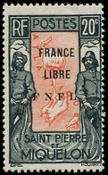 ** SAINT PIERRE & MIQUELON - Poste - 285, Signé Calves: 20c. Noir Et Rouge-orange - Neufs