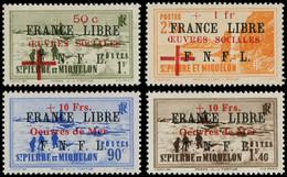 ** SAINT PIERRE & MIQUELON - Poste - 310/11B, Complet, Signés Brun: France Libre - Neufs