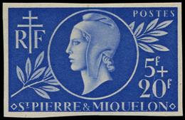 ** SAINT PIERRE & MIQUELON - Poste - 314, Non Dentelé, 1 Grain D'origine Dans Le Papier: 5f. + 20f. Entraide Française - Neufs