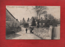 CPA Abîmée  - Ver  -(Oise) - La Route Du Cimetière - Autres Communes