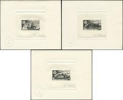 EPA TERRES AUSTRALES - Poste Aérienne - 44/46, 3 épreuves D'artiste En Noir, Signées: Bateaux - Sin Clasificación