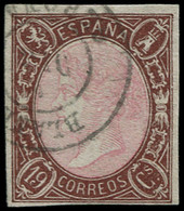 O ESPAGNE - Poste - 68, Signé Calves: 19c. Brun Et Rose - Usados