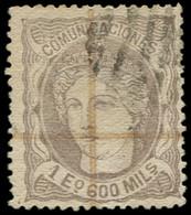 O ESPAGNE - Poste - 111, Signé Scheller: 1e.600m. Violet-gris - Usados