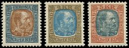 ** ISLANDE - Poste - 44/46, Christian IX - Unused Stamps