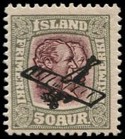 ** ISLANDE - Poste Aérienne - 2, 50a. Gris Et Grenat - Airmail
