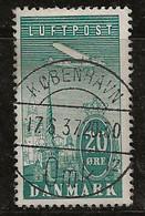 Danemark 1925-1930 N° Y&T :  PA 8 Obl. - Aéreo