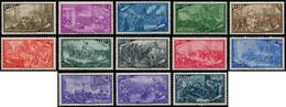 ** ITALIE - Poste - 518/29 + Exp 35, Complet (Sas. 580/91 + Ex 32) - 1946-60: Mint/hinged