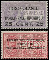 ** ITALIE - Poste Aérienne - 1/2, Centrage Moyen (Sas. A 1/2) - Airmail