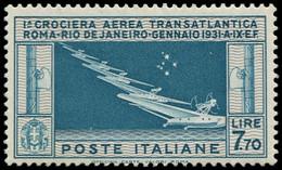 "** ITALIE - Poste Aérienne - 25a, ""7"" étoiles (Sas. 25A) - Airmail"