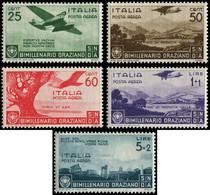 ** ITALIE - Poste Aérienne - 91/95, Complet (Sas. A 95/99) - Airmail