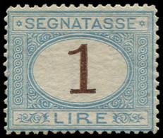 ** ITALIE - Taxe - 12, Gomme Non Originale 1l. Bleu Et Brun (Sas. 11) (cote*) - Portomarken