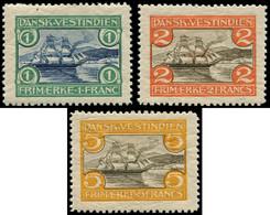 * ANTILLES DANOISES - Poste - 33/35, 1f, 2f, 5f. Port De St. Thomas, Voilier - Danemark (Antilles)