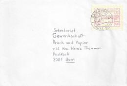 Brief  Ruschein - Bern  (Bahnstempel Rhät.Bahn)           1993 - Ferrovie