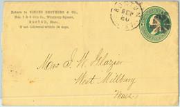 91421 - USA - POSTAL HISTORY - Private Print  STATIONERY COVER Boston MASS 1920 - 1921-40
