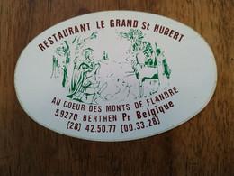 AUTOCOLLANT STICKER RESTAURANT LE GRAND ST HUBERT SAINT-HUBERT – 59270 BERTHEN – MONTS DE FLANDRE - Stickers