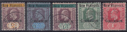 NOUVELLES HEBRIDES NEW HEBRIDES : CONDOMINIUM N° 7/9 + 12/13 OBLITERATION LEGERE - Used Stamps