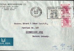 ! 1960 Hong Kong, Firmen Brief , Hong-Kong - Briefe U. Dokumente