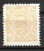 Portugal (Macau) 1893 – D. Carlos -  Macao - Afinsa 47 - Unused Stamps