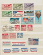 Etats Unis - USA Lot De 24 Timbres US Air Mail - Ballon Dirigeable - Sonstige