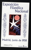 1958 Expo Brüssel Mi ES BL14 Sn ES 878a Yt ES BF20 Sg ES MS1286 Edi ES 1223 Postfr. MNH Xx - 1951-60 Unused Stamps