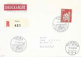 """R Drucksachen ET Brief  """"Thal (St.Gallen) Dorf Der Rebe""""             1963 - Briefe U. Dokumente"""