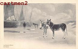 """LA PANNE DE PANNE """" A L'AUBE """" ILLUSTRATEUR PLAGE ANE BATEAU BELGIQUE 1900 - De Panne"""